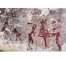 Ancient African Bushman Rock Art 01 Photographic Print
