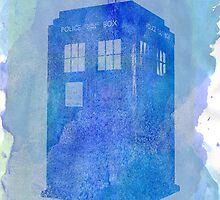 Tardis (watercolour) by ibeatlesyou
