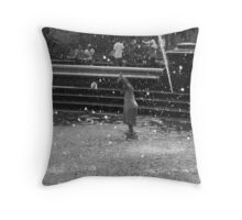 """""""she raises her hands up in joy as the water rains down."""" Throw Pillow"""