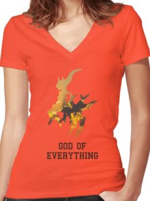 Arceus, God of Everything Women's Fitted V-Neck T-Shirt