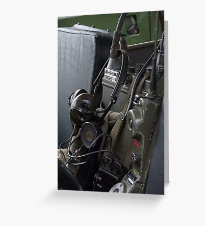 Military vehicle Radio Greeting Card