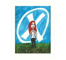 X - Marks The Scully Art Print