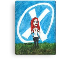 X - Marks The Scully Canvas Print