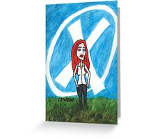 X - Marks The Scully Greeting Card