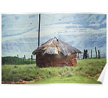 Mud Hut: Drakensberg, South Africa Poster
