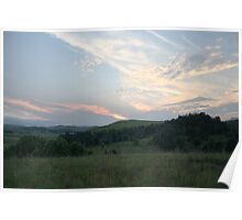 Sunset over Drakensberg Poster