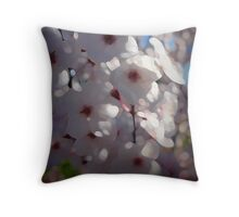 Plum Blossoms Throw Pillow
