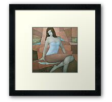 Daydreams in Atomic Tangerine Framed Print