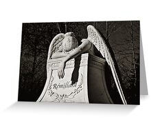 Weeping Angel II - sepia Greeting Card