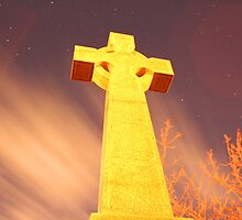 Glowing Gravestone by cmaloney