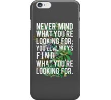 Nevermind Typography iPhone Case/Skin