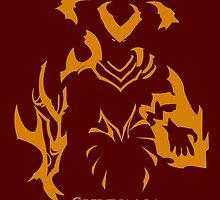 Simplistic Shyvana -League of Legends-  by virgate