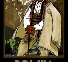 Zakopane Poland Vintage Travel Poster Restored by Carsten Reisinger