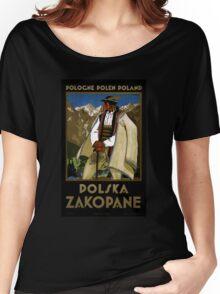 Zakopane Poland Vintage Travel Poster Restored Women's Relaxed Fit T-Shirt
