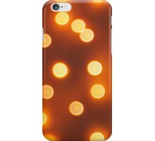 Abstract defocused and blur small yellow lights iPhone Case/Skin