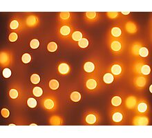 Abstract defocused and blur small yellow lights Photographic Print