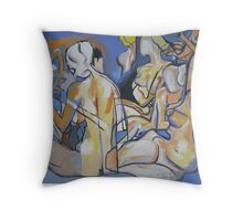 After Ingres : Le Bain Turc Throw Pillow
