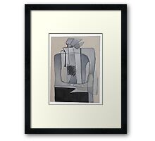 Watching TV Framed Print