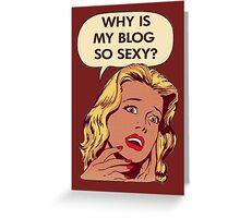 Blog pop art Greeting Card
