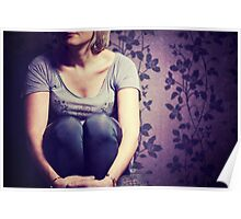Woman curled up Poster