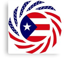 Puerto Rican American Multinational Patriot Flag Series Canvas Print
