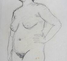 Life Drawing 09 by Simon Kidd