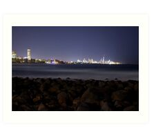 Surfers Paradise from Burleigh Art Print