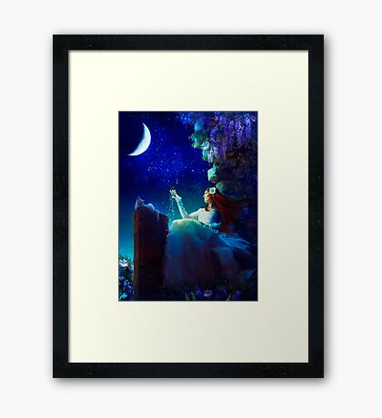 A Conversation With The Moon Framed Print