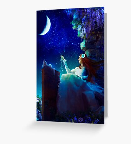 A Conversation With The Moon Greeting Card