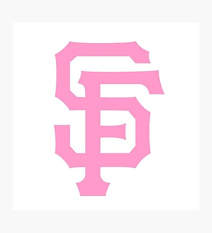 Pink SF Giants Photographic Print