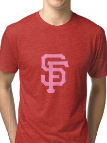 Pink SF Giants Tri-blend T-Shirt