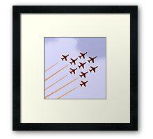 The Red Arrows RAF Display Team Framed Print