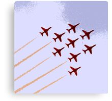 The Red Arrows RAF Display Team Canvas Print