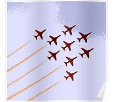 The Red Arrows RAF Display Team Poster