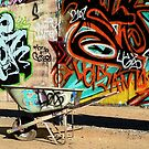 A Wheelbarrow of Graffiti by paintingsheep