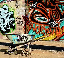 A Wheelbarrow of Graffiti by paintingsheep