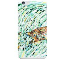 Bear and salmon iPhone Case/Skin