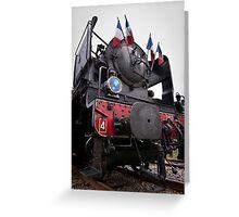 Train Vapeur Du Limousin Greeting Card