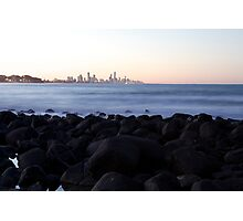 Rocks at Burleigh Photographic Print