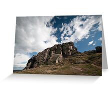 the rugged rocks Greeting Card