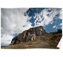 the rugged rocks Poster