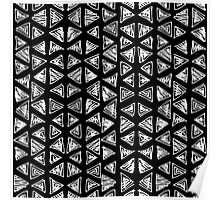 Ink triangles Poster