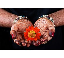 The Art of Henna Painting. Photographic Print