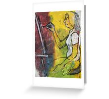 'Concentration' (Artist at Work) Greeting Card
