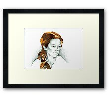 Collage woman Framed Print