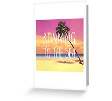 Running to the sea Greeting Card