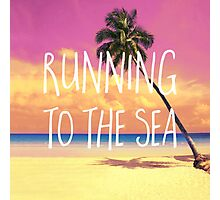 Running to the sea Photographic Print