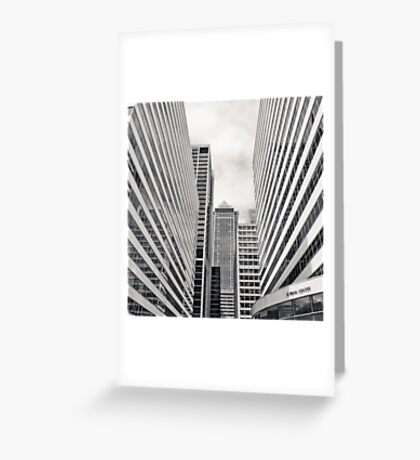 Urban Canyon Greeting Card