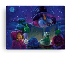 Wintertime Reading Canvas Print