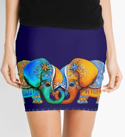 Littlest Elephant Love Links Mini Skirt